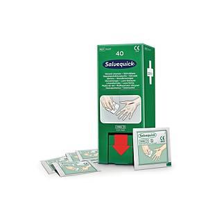Salvequick 3227 haavapyyhe täyttöpakkaus, 1 kpl=40 haavapyyhettä