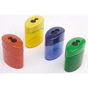 Blyantspidser Linex, med automatisk lukning, assorterede farver