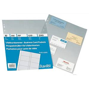 Bantex 2140 Business Card Pocket A4 - Pack of 10
