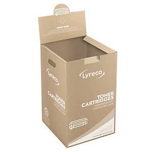 Lyreco gyűjtődoboz a tonerkazetta újrahasznosítására