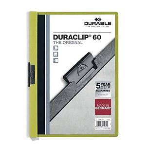 Duraclip 220 A4 Folder 6mm Light Green