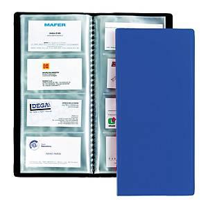 Portabiglietti da visita Favorit fogli fissi PPL 80 biglietti blu