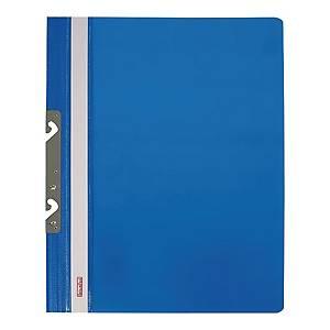 Skoroszyt BIURFOL wpinany z metalową zawieszką, twardy, niebieski