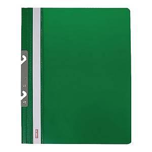 Skoroszyt BIURFOL wpinany z metalową zawieszką, twardy, zielony