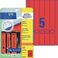 Ordner-Etiketten Avery Zweckform L4748-20 lang / schmal rot 20 Bogen/100 Stück
