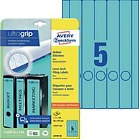 Ordner-Etiketten Avery Zweckform L4749-20 lang / schmal blau 20 Bogen/100 Stück