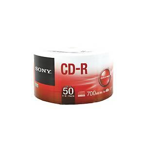 SONY แผ่น CD-R 80 นาที 700 MB 48X บรรจุ 50 แผ่น