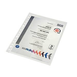 Pack de 100 micas multifuro Esselte - A4 - PP vidro - 80 μ