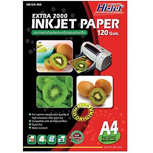 HI-JET กระดาษอิงค์เจ็ท EXTRA 2000A4120 แกรม1 แพ็ค 100 แผ่น