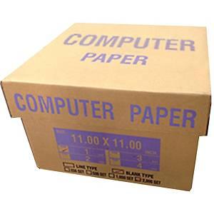 กระดาษต่อเนื่อง 1 ชั้น 11X11 นิ้ว1 กล่อง 2000 ชุด