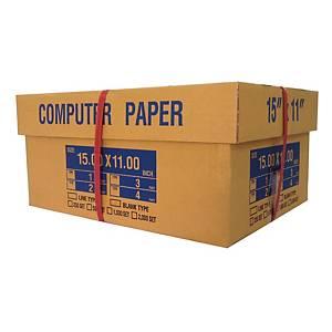 กระดาษต่อเนื่อง 1 ชั้น 15X11 นิ้ว 1 กล่อง 2000 ชุด