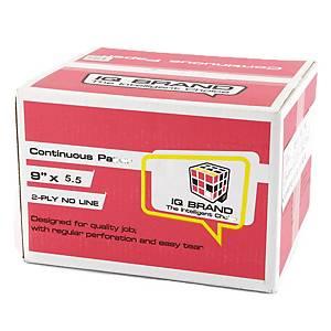 IQ กระดาษต่อเนื่อง 2ชั้น 9X5.5 นิ้ว1 กล่อง 2000ชุด