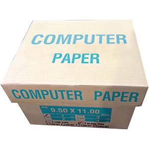 กระดาษต่อเนือง 1ชั้น 9.5X11 นิ้ว 1 กล่อง บรรจุ 2000ชุด