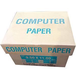 กระดาษต่อเนือง 3 ชั้น 9.5X11 นิ้ว 1 กล่อง 500ชุด