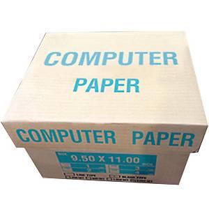กระดาษต่อเนือง 4ชั้น 9.5X11 นิ้ว 1 กล่อง 500ชุด