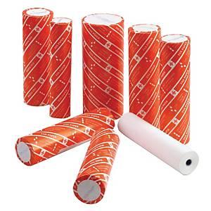 ROXY กระดาษโทรสารกว้าง 210 มม. ยาว 50หลา แกน1ซม.