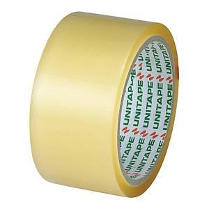 UNITAPE เทปปิดกล่อง OPP กาวยางธรรมชาติ 2 นิ้ว X 45 หลา แกน 3 นิ้ว สีใส
