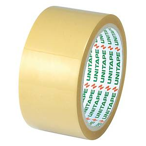 UNITAPE OPP PACKAGING TAPE SIZE 2 INCH X 45 YARDS CORE 3 INCH BROWN
