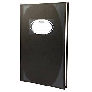ตราช้าง สมุดบันทึกมุมมัน HC-101 210 X 320มม. 70 แกรม บรรจุ 100 สีดำ