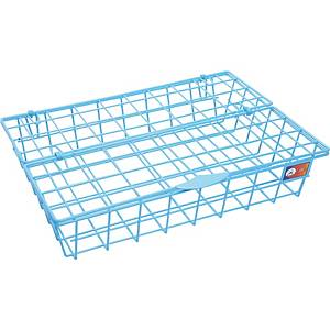 ORCA 88 WIRE LETTER TRAY WITH LID PLASTIC COATED  BLUE