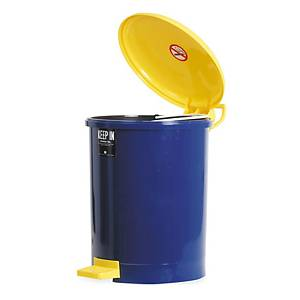 KEEPIN ถังขยะมีฝาปิด RW9085 18ลิตร 31X44ซม.สีน้ำเงิน