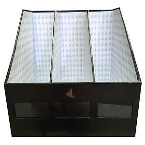 กล่องเก็บเอกสาร 3 ช่อง 30.5X30.5X30.5ซม. สีดำ