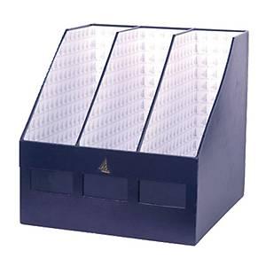 กล่องเก็บเอกสาร 3 ช่อง 30.5X30.5X30.5ซม. สีกรมท่า