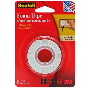 SCOTCH Cat110 Double-Sided Foam Tape 21mm X 1m