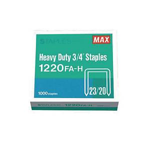 MAX No.23/20 Staples - Box of 1000