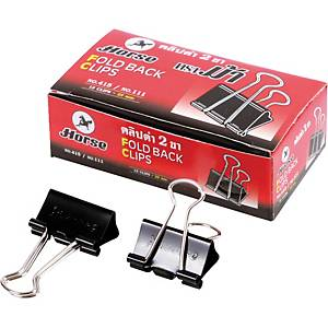 HORSE 111 DOUBLE CLIPS 25MM BLACK - BOX OF 12