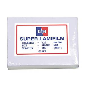 SANKO LAMATING POUCH 70X100MM 125 MI - PACK OF 100