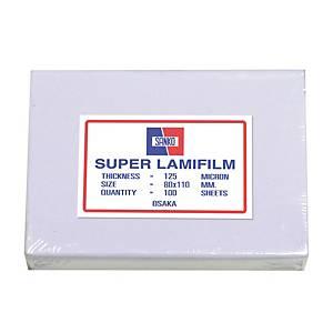 SANKO พลาสติกเคลือบบัตร80 X 110 มม. 125 ไมครอน 100 แผ่น