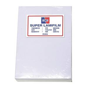 SANKO พลาสติกเคลือบบัตร 110 X 154 มม. A5 125 ไมครอน 100 แผ่น