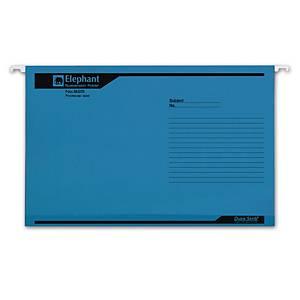ตราช้าง แฟ้มแขวน 925F แพ็ค 10เล่ม สีน้ำเงิน