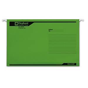 ตราช้าง แฟ้มแขวน 925 F แพ็ค 10เล่มสีเขียว