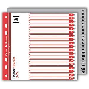 ตราช้าง อินเด็กซ์พลาสติก 720A-Z140 ไมครอน A5สีเทา