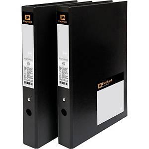 ELEPHANT 210P 2-O-Ring Binder Folder A4 1.2   Black