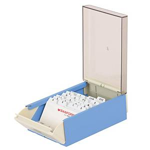 EAGLE 818S BUSINESS CARD BOX FOR 400CARDS BLUE