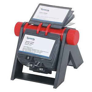 BINDERMAX W-1250 BUSINESS CARD ROTARY FILE FOR 300 CARDS