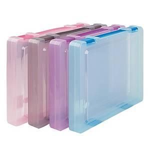 ORCA A20 Plastic Box File A4 Assorted Colours