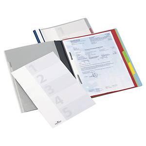 Dossier classement rapide Durable Divisoflex, A4, avec 5interc., couleur