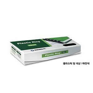 PK100 REXEL PLASTIC COMBS 9.5MM WH