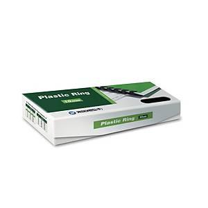PK100 REXEL PLASTIC COMBS 9.5MM BLK