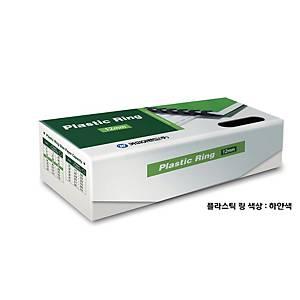 PK100 REXEL PLASTIC COMBS 12.5MM WH