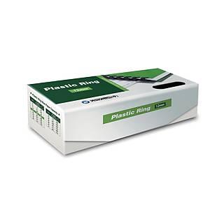 PK100 REXEL PLASTIC COMBS 12.5MM BLK