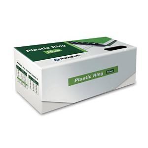 PK100 REXEL PLASTIC COMBS 16MM BLK