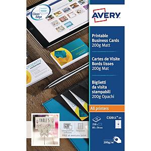 Avery C32011 Business Cards 85x54mm 10-Up - Pack Of 25