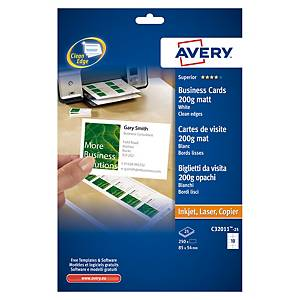 Biglietti da visita stampabili Avery C32011-25 stampanti laser - conf. 250