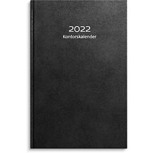Kalender Burde 91 1073 Kontorskalender konstläder 150 x 230 mm svart