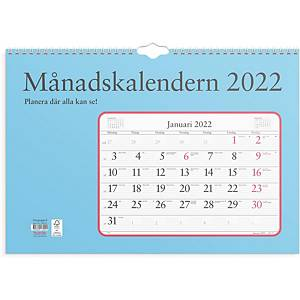 Kalender Burde 91 1700 Månadskalendern 430 x 300 mm